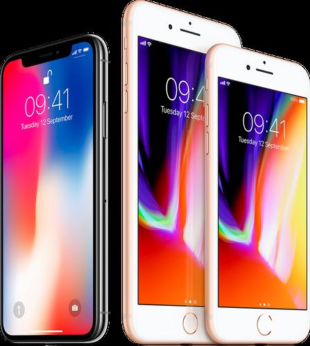 iPhone X/iPhone 8 plus/iPhone 8(图自:苹果官网)