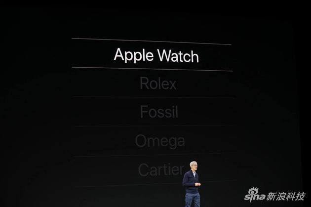 库克在去年9月的iPhone发布会上宣布Apple Watch销售收入超过劳力士