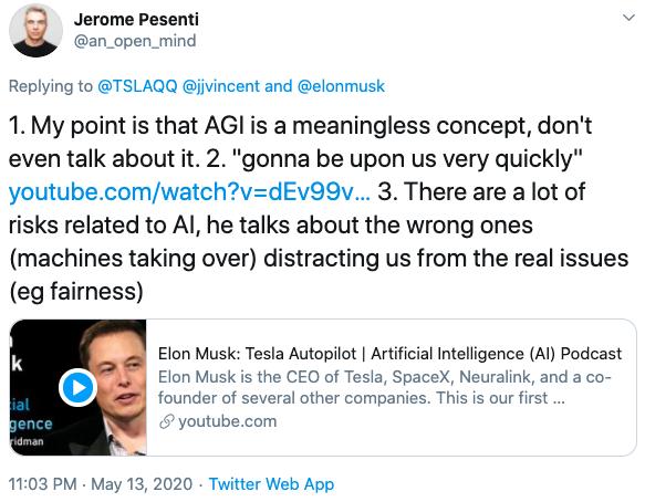 马斯克宣传AI威胁,被Facebook AI负责人diss「胡说八道」,回怼