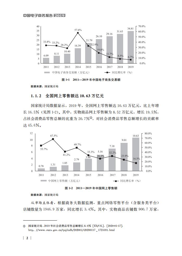 商务部:2019中国电子商务报告(182页)