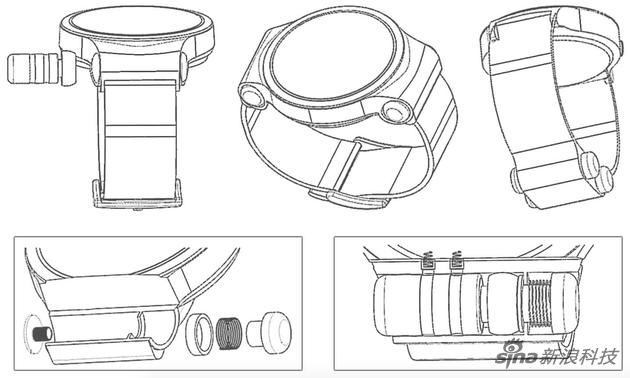华为新专利另外方案将耳机置于手腕下面