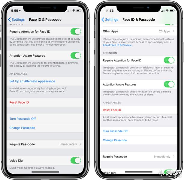 iPhone X也能共享 Face ID支持不同的脸解锁手机