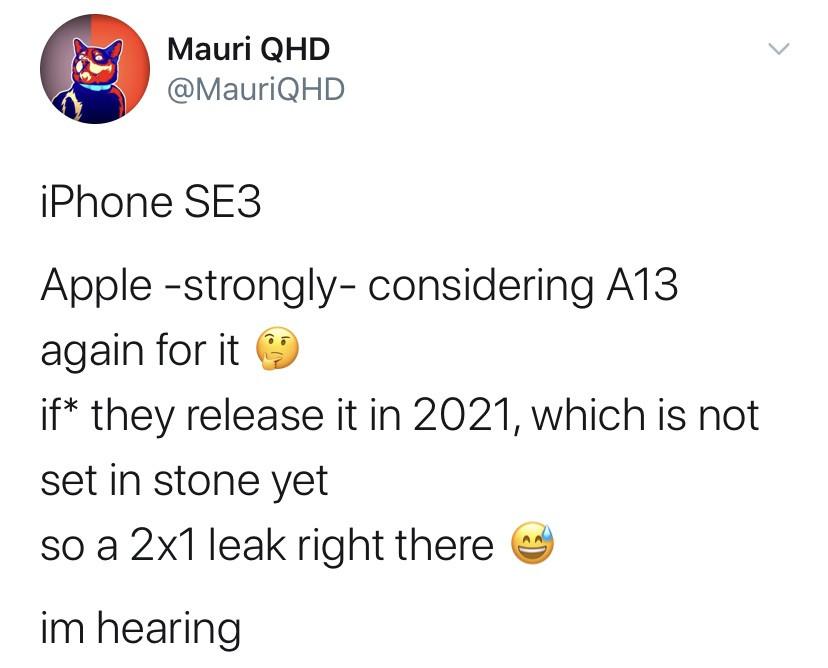 爆料:iPhone SE 2 Plus/SE 3或仍将搭载A13处理器