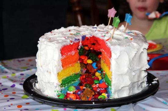 不同的地层叠覆起来的样子可类比为彩虹蛋糕。图片来源:pixabay.com