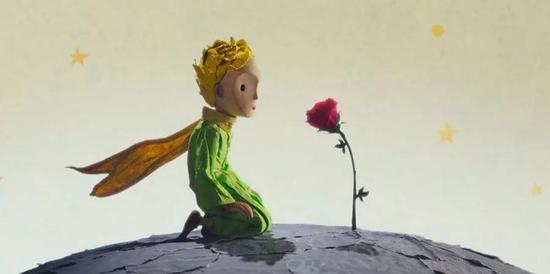 小王子与他星球上的玫瑰花(图片来源:https://wallscover.com/the-little-prince.html)