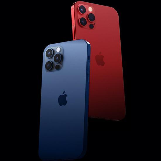 """iPhone 12Pro新配色渲染图 """"红蓝CP""""会不会出现呢"""