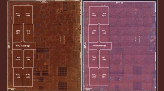 苹果A12Z透视图曝光:A12X马甲实锤 只多1个GPU核心