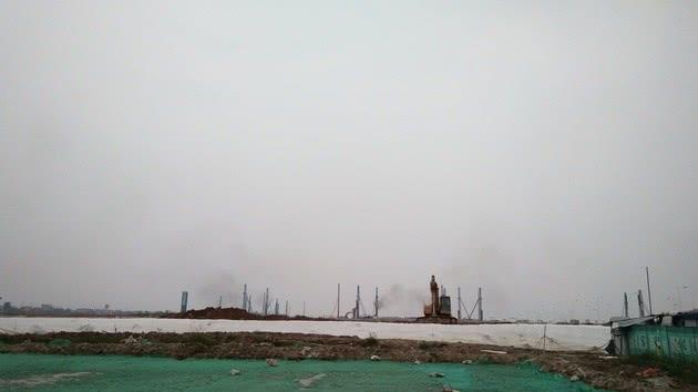 ▲FF南沙生产基地建设现场1 图片来源:每经记者 邱德坤 摄