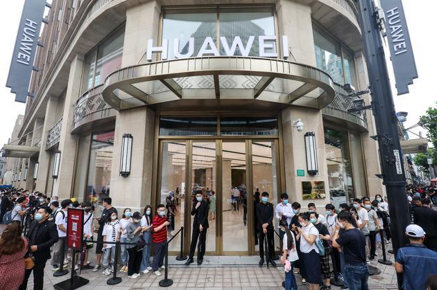 华为最大旗舰店在上海开业 营业面积近5000平方米
