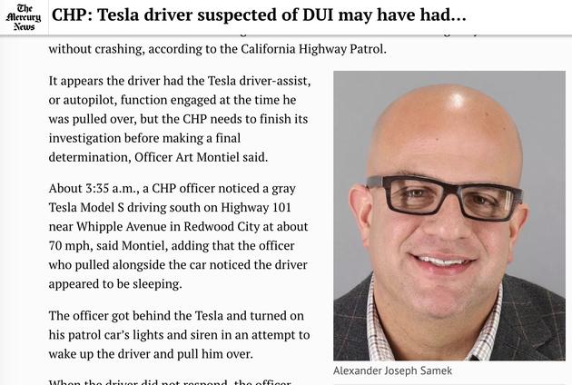 凌晨3点半 加州一台时速110公里的特斯拉竟无人驾驶! 证券资讯
