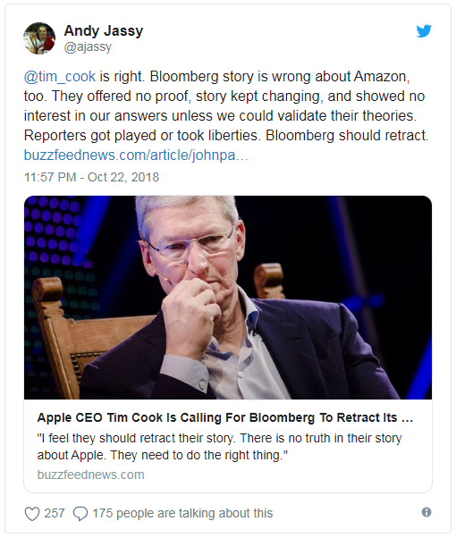 亚马逊和超微要求彭博社撤回间谍芯片报道:内容不实 股票配资