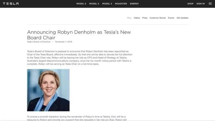 她取代马斯克,成了特斯拉的新董事长!究竟什么来头? 证券资讯